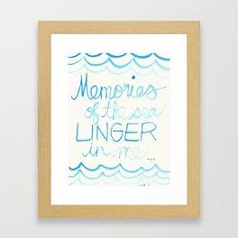 Memories of the sea  Framed Art Print