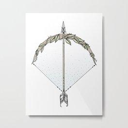 Bow and Arrow Metal Print