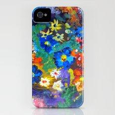 Flora Azul iPhone (4, 4s) Slim Case