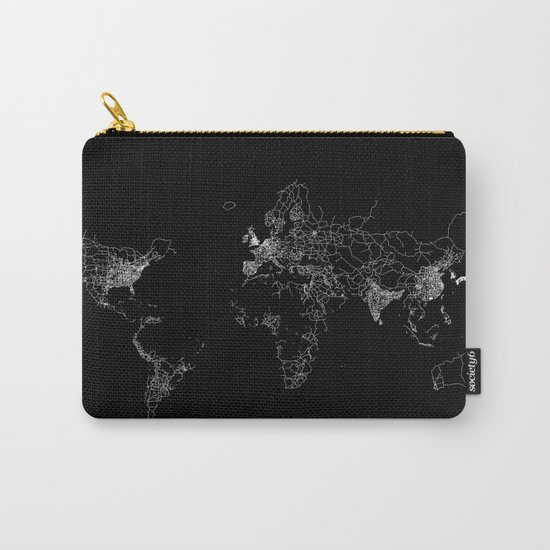 World map Lines Carry-All Pouch