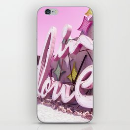 """Pink """"In Love"""" Sign at the Neon Museum in Las Vegas, Nevada iPhone Skin"""