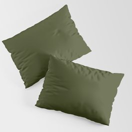 CHIVE dark green solid color Pillow Sham