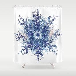 cosmic feather mandala 01 Shower Curtain