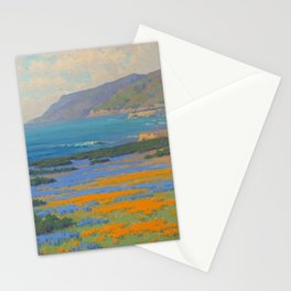 Spring Morning, Poppy and Lupine Flowers, California Coast by John Marshall Gamble Stationery Cards