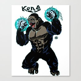 Electric Kong Print FC Canvas Print