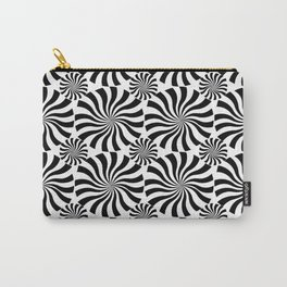 Black Twirl Carry-All Pouch
