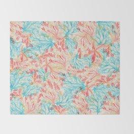 Coral Pattern Throw Blanket