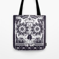 lotus Tote Bags featuring Lotus by Tshirt-Factory