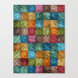 Square and Fossil Prints Pattern Canvas Print
