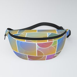 Colorful tiled puzzle Fanny Pack