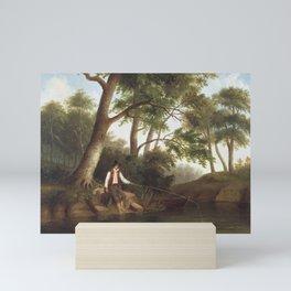 Robert S Duncanson - Man Fishing Mini Art Print