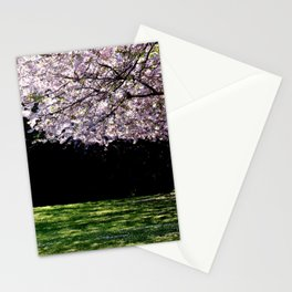 Where the cherries bloom by Laila Cichos Stationery Cards
