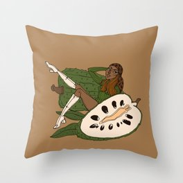 Ms Soursop Throw Pillow