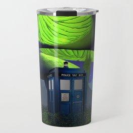 Tardis in the planet of alien Travel Mug