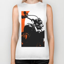 """Motorcycle wheel"" - Classic Car Lovers Biker Tank"