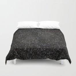 PLANET PIXEL BLACK ABYSS Duvet Cover