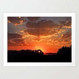 Idaho Sunset Art Print