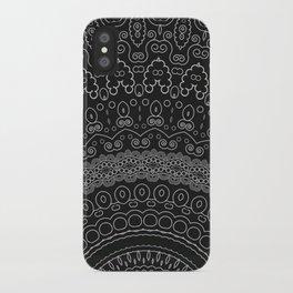 blackwhite mandala iPhone Case