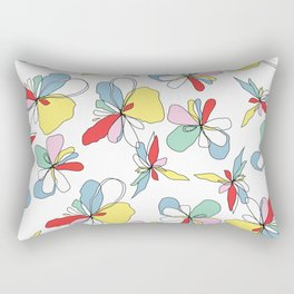 Draw me floral Rectangular Pillow