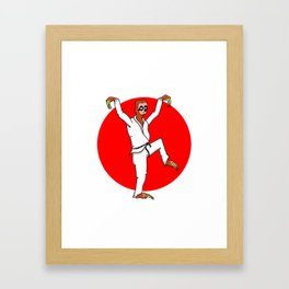 Sloth Karate Framed Art Print
