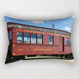 Red Railroad Car - Cumbres And Toltec Rectangular Pillow