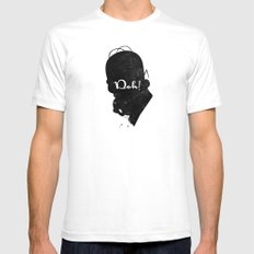 Doh – Homer Simpson Silhouette Quote Mens Fitted Tee SMALL White