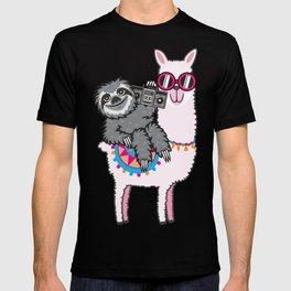 Sloth Music Llama T-shirt
