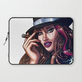 Smoking Gangster Girl Laptop Sleeve