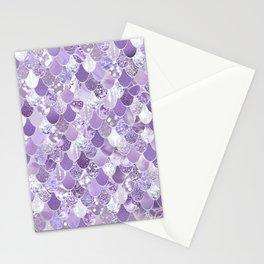 Mermaid Treasure, Purple Jewels Stationery Cards