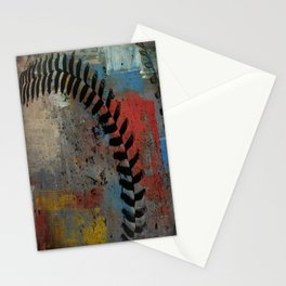 Painted Baseball Stationery Cards