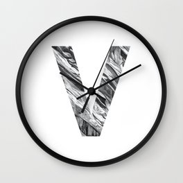 The Letter V- Stone Texture Wall Clock