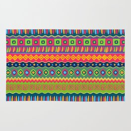 African abstract geometric pattern Rug