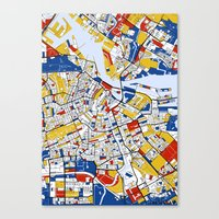 mondrian Canvas Prints featuring Amsterdam Mondrian by Mondrian Maps
