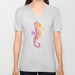 Sunset Seahorse Unisex V-Neck