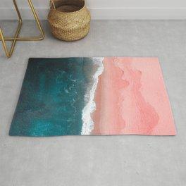 Turquoise Sea Pastel Beach II Rug