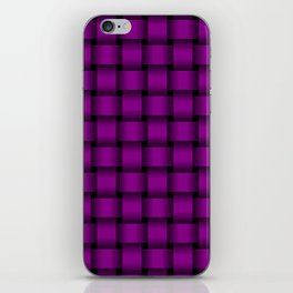 Purple Violet Weave iPhone Skin