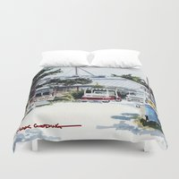 ariana grande Duvet Covers featuring Boca Grande by The Max Gooding Company