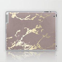 Kintsugi Ceramic Gold on Red Earth Laptop & iPad Skin