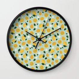 Summer Lemon Wall Clock
