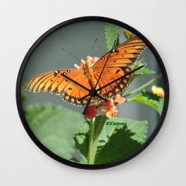 Gulf Fritillary on Lantana Wall Clock