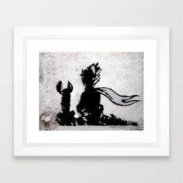 The little prince and the fox - stencil for the LIFE CURRENT WALL series Framed Art Print
