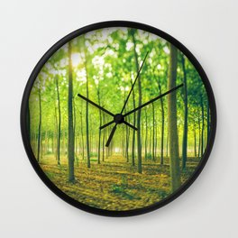 A lot of green trees Wall Clock