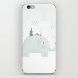 Little mouse and elephant exchanging gifts iPhone Skin
