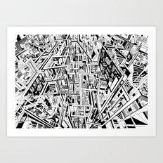 3D Maze Art Print