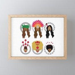 UrbanNesian Women of Pasifika Framed Mini Art Print