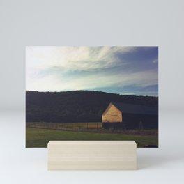 Hazy Barn Mini Art Print