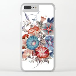 Morning Glories Flower Bouquet Clear iPhone Case