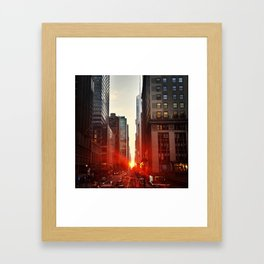 City twilight Framed Art Print