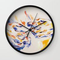 body Wall Clocks featuring Body by Peter Dannenbaum