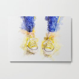 My yellow All Star Metal Print